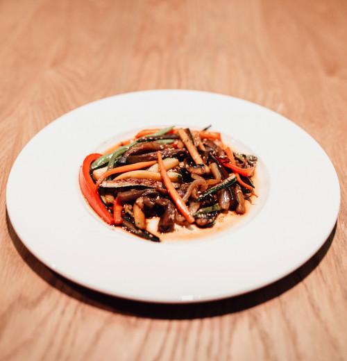 Salteados de verduras con salsa de soja